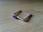 Square Ring Set with Amethyst