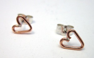 Sweetheart Collection Copper Studs